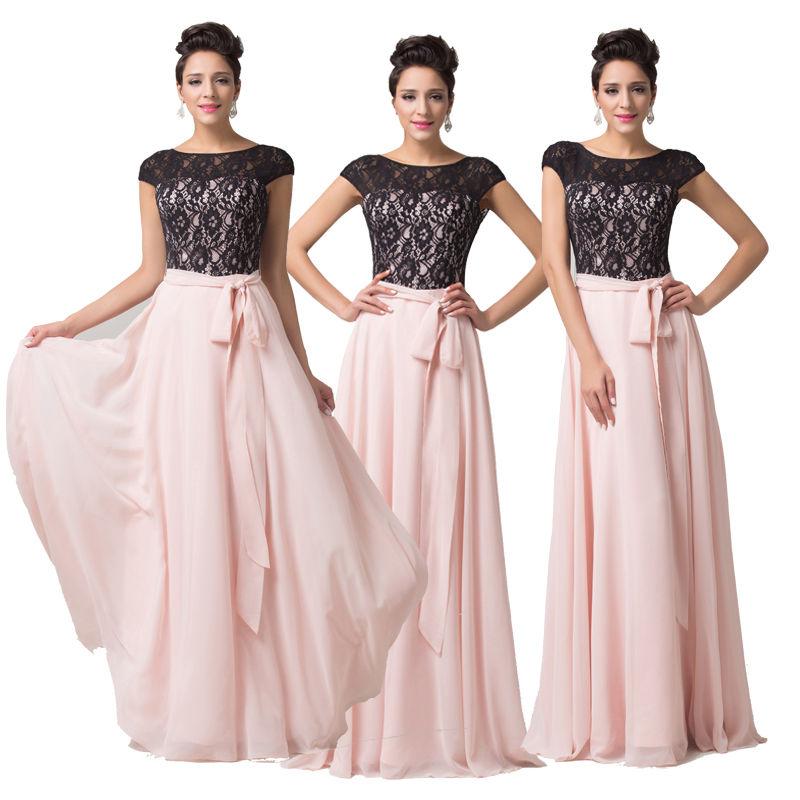 728a25343e0 společenské šaty s rukávky růžovočerné - plesové šaty